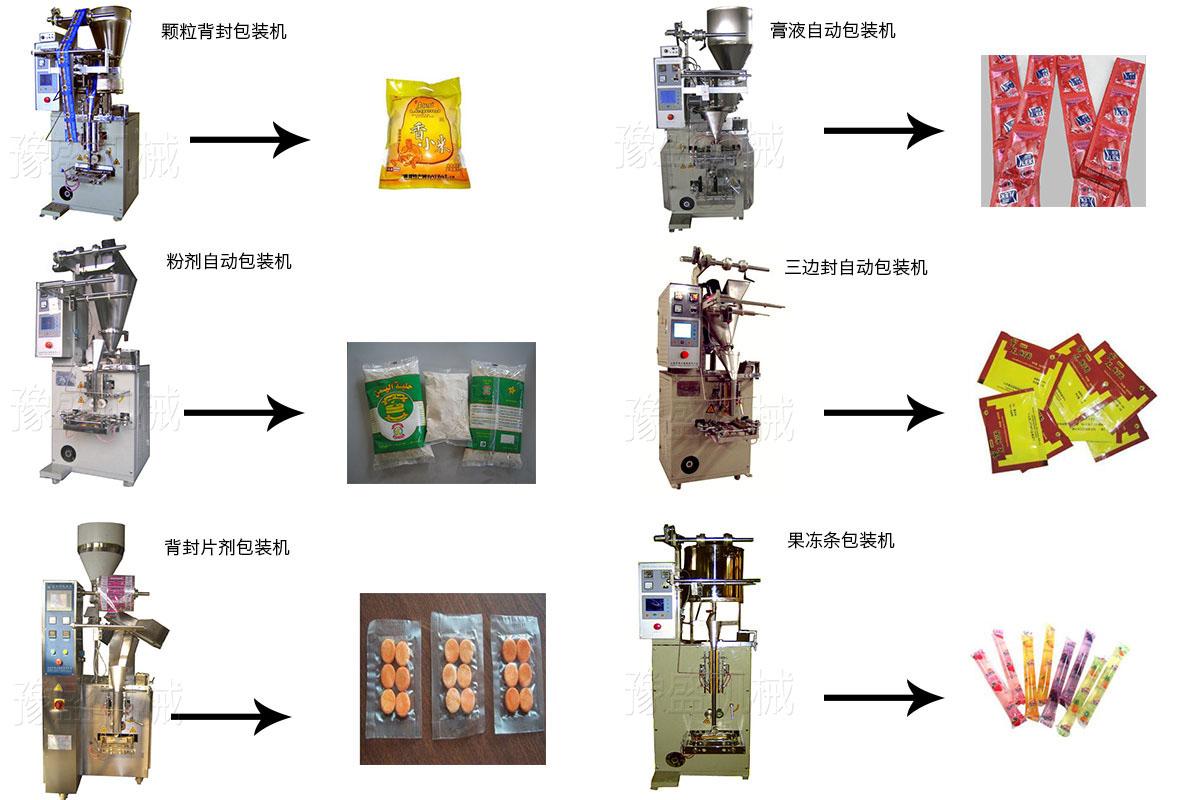 果冻条包装机工作原理图